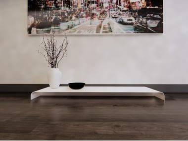 Low rectangular metal coffee table RADIUS