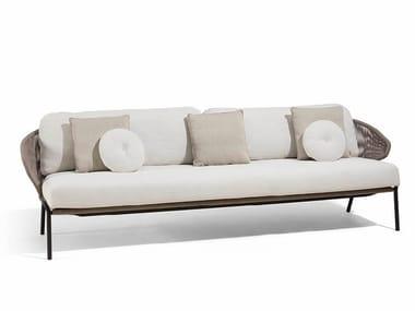 3 seater rope garden sofa RADIUS | 3 seater garden sofa