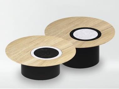 Low round Carrara marble coffee table RADIUS