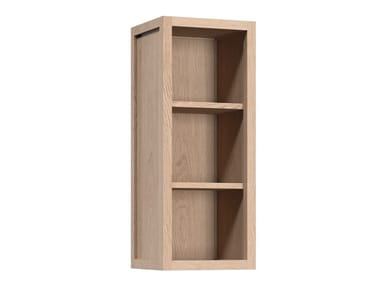 Open wooden wall cabinet with shelves RADIX | Wall cabinet with shelves