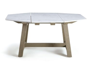 Octagonal marble table RAFAEL | Marble table