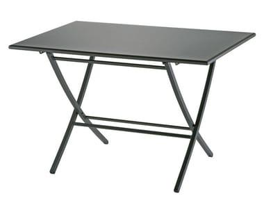Folding rectangular garden table RAFFAELLO
