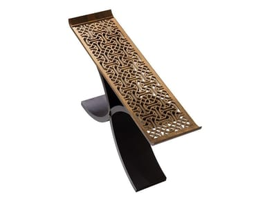 Mesa consolas retangular de madeira RAHLE