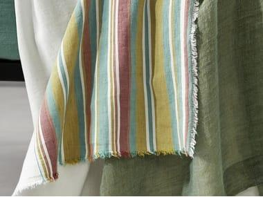 Striped cotton bed sheet RAIA