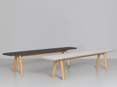 Upholstered solid wood bench RAIL | Bench