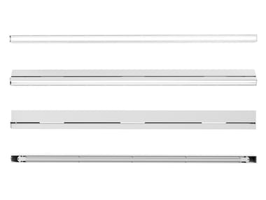 Linear frame of LED lights with full-range speakers RAIL