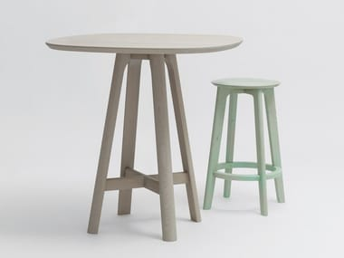 Solid wood high table RAIL SNACK