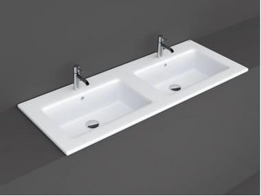 Vasque à encastrer double rectangulaire RAK-JOY | Lavabo double