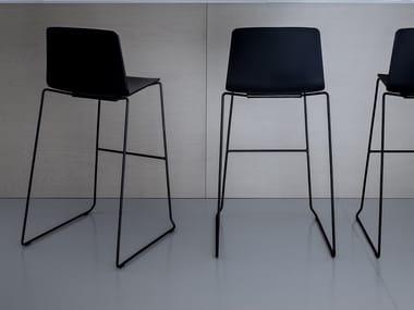 High garden stool with back RAMA | Stool