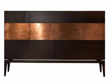 Wooden and copper sideboard RAME