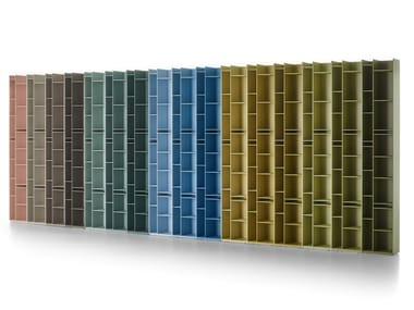 Libreria divisoria modulare in fibra di legno RANDOM 2C-3C