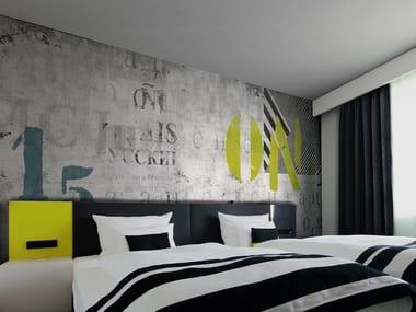 Papel de parede lavável com escrita RANDOM