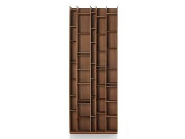 Libreria modulare in fibra di legno RANDOM WOOD