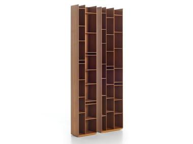 Modular wood fibre bookcase RANDOM WOOD