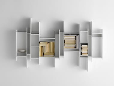 Open wall-mounted MDF bookcase RANDOMITO