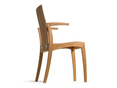 Wooden chair with armrests RANK | Chair with armrests