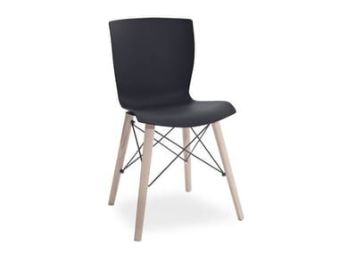 Polypropylene chair RAP WOOD | Chair