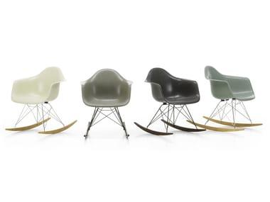 Rocking glass-fibre chair RAR FIBERGLASS ARMCHAIR