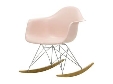 Rocking polypropylene chair with armrests RAR | Rocking chair