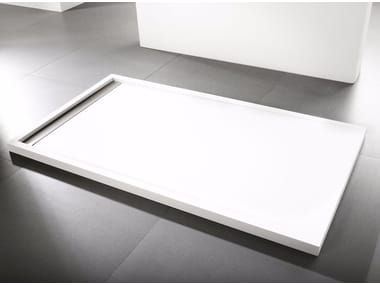 Contemporary style rectangular Krion® shower tray RAS   Shower tray