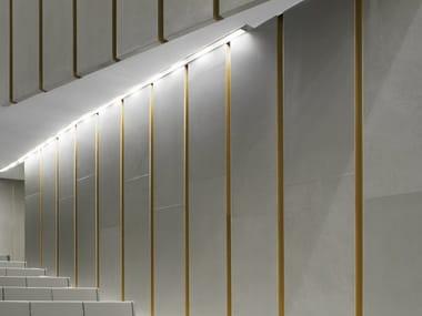 Profilo per illuminazione lineare da parete in alluminio estruso RASO IP20
