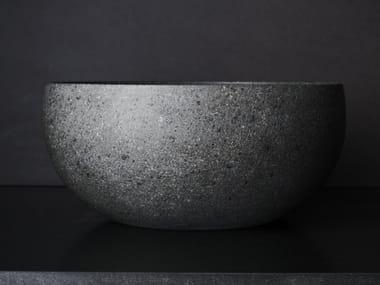 Countertop oval lava stone washbasin RAW NATURE