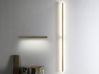 Indirect light wooden wall lamp RAY