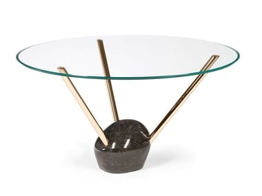 Round glass table RAYS | Round table