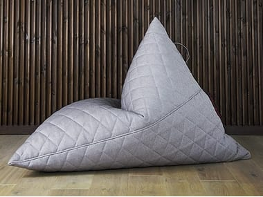 Fabric bean bag with removable cover RAZZ QUILTED NORDIC