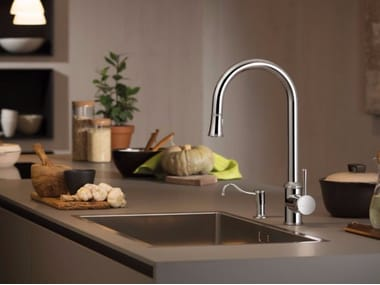 Countertop kitchen mixer tap with pull out spray REAL | Kitchen mixer tap with pull out spray