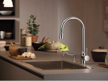 Miscelatore da cucina da piano con doccetta estraibile REAL | Miscelatore da cucina con doccetta estraibile