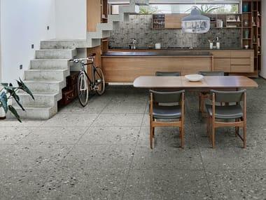 Porcelain stoneware wall/floor tiles terrazzo effect REALSTONE NAVIGLI