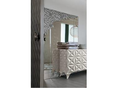 Rectangular wall-mounted mirror REBECCA | Mirror