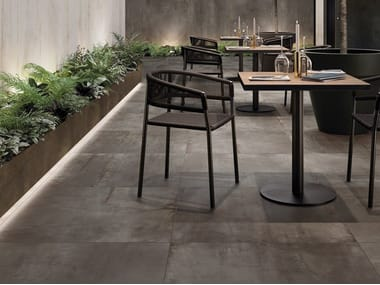 Porcelain stoneware wall/floor tiles with metal effect REBEL