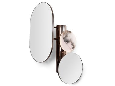 Countertop oval chrome plated mirror REBEL | Mirror