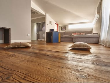 Floating prefinished spruce parquet RECLAIMED FIR | OIL FINISHED