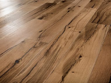 Two-layers wood floor with surface protective finish RECLAIMED OAK