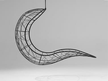 1 Seater powder coated steel garden hanging chair RECLINER | Garden hanging chair