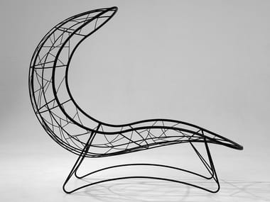 Powder coated steel Chaise longue RECLINER | Chaise longue