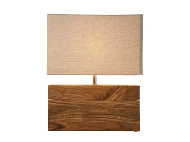 Acacia bedside lamp RECTANGULAR WOOD NATURE