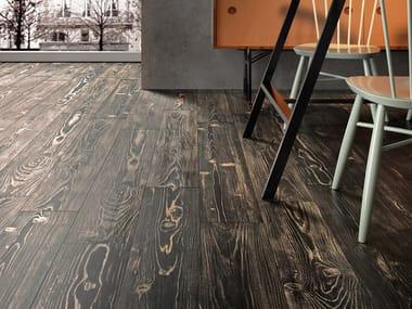 Pavimento in gres porcellanato effetto legno REDWOOD BROWN
