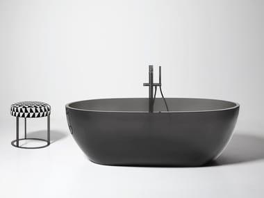 Vasca da bagno centro stanza ovale in Cristalmood® REFLEX