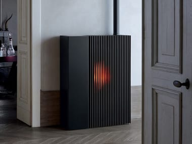 Pellet stove for air heating REFLEX