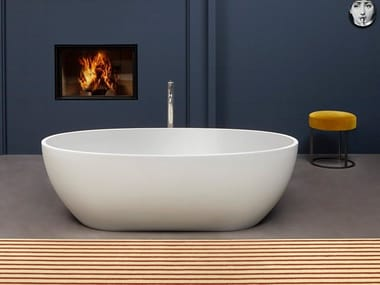 Freestanding oval Flumood® bathtub REFLEXMOOD