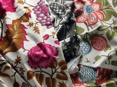 Tessuto stampato in cotone con motivi floreali REGENT