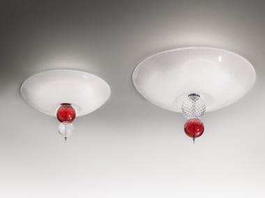 Plafoniera in vetro soffiato REGOLO | Plafoniera