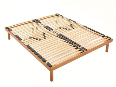 Slatted double orthopedic wooden bed base RELAX | Double bed base
