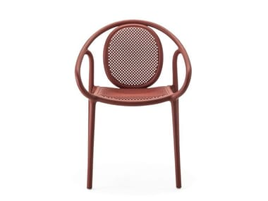 Stackable polypropylene chair with armrests REMIND 3735