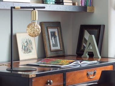 Direct light table lamp with fixed arm RENDO | Table lamp
