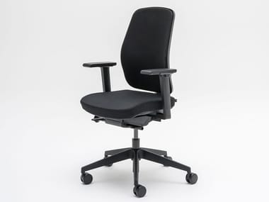 Office chair with armrests with castors RENYA | Office chair with castors